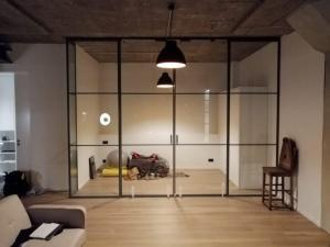 Glass sliding doors made from bespoke glass