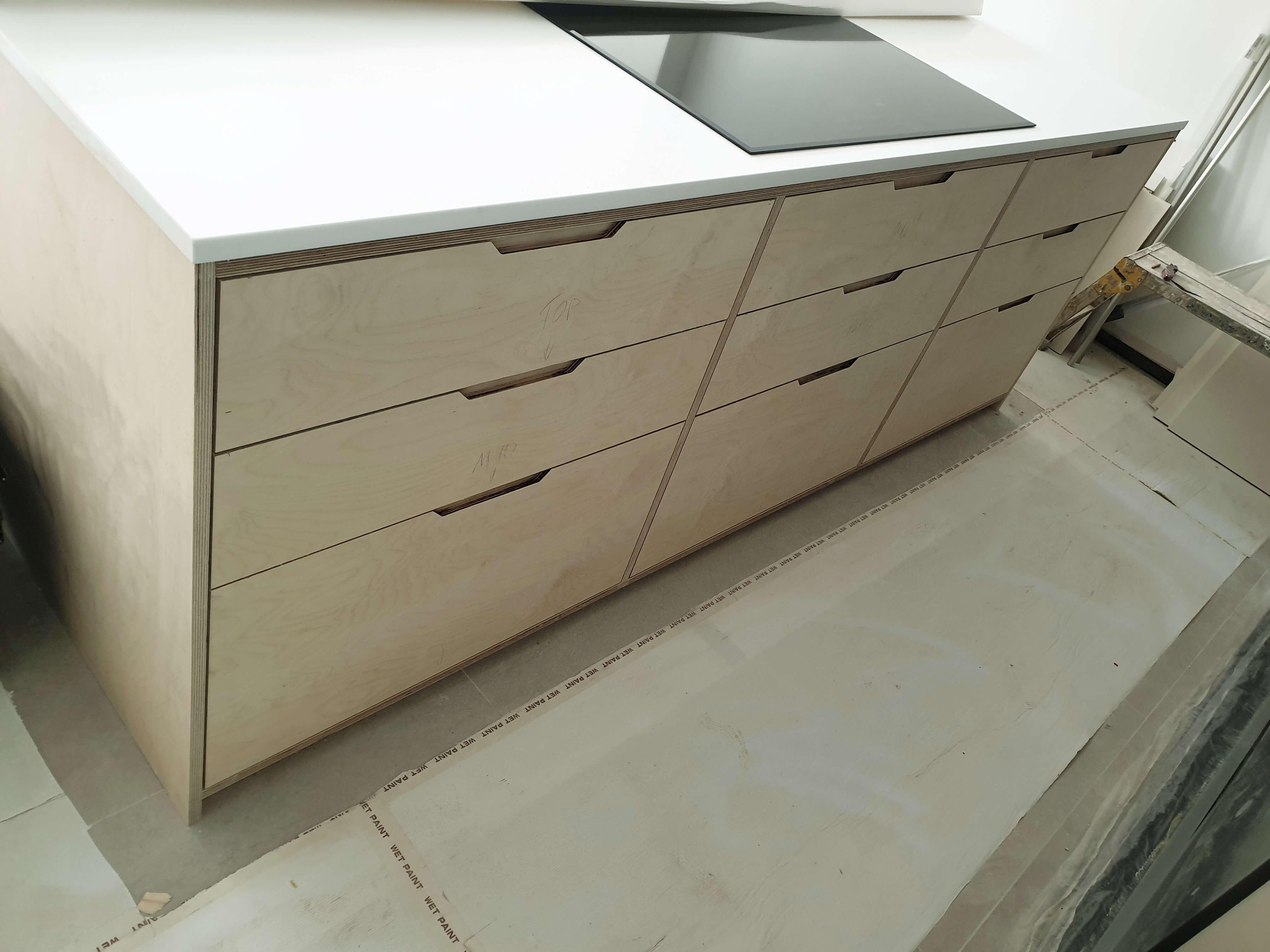 Birch Plywood Kitchen Cabinet Interiorservice Endego Co Uk